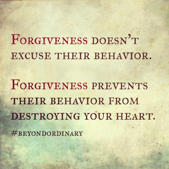 Forgiveness Doesnu0027t Excuse Behavior